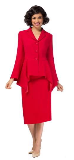 giovanna, red church suit,0917