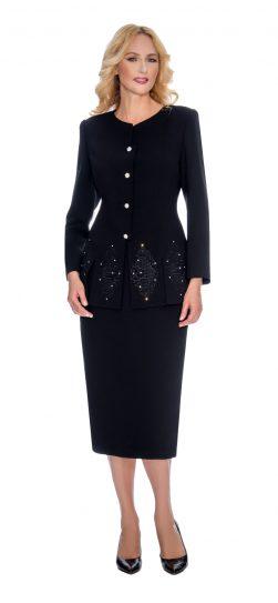 Giovanna, skirt suit, black skirt suit, 0920
