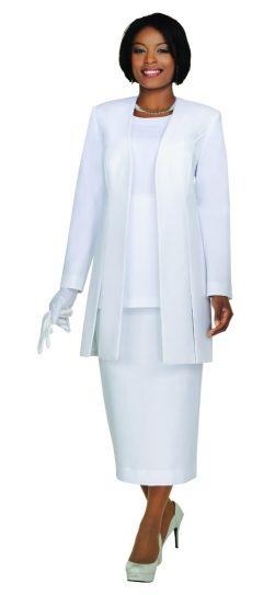 Benmarc, Usher Suit, Style 2296, White, Black, Navy, Silver