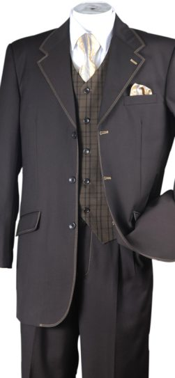 longstry mens brown suit