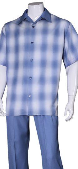 short sleeve walking suit, 2970, blue walking suit