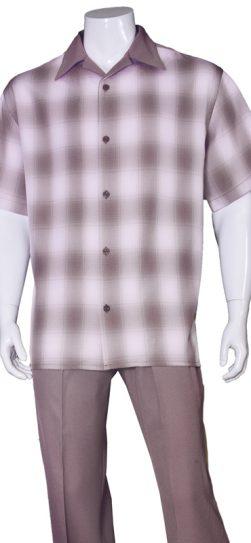 short sleeve walking suit, 2970, burgundy walking suit