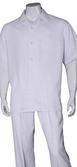 short sleeve walking suit, 2971, white walking suit