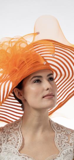 301903, orange straw hat