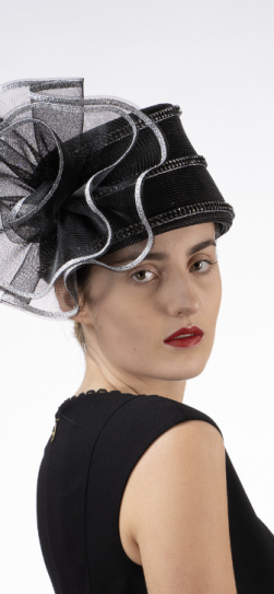 301915, black-silver church hat