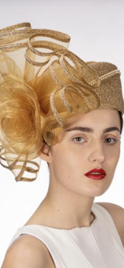 331918, gold metallic hat