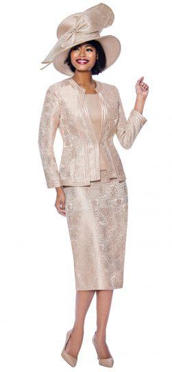 sdusanna, champagne skirt suit 3954