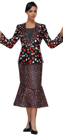 Church Suit, Women's Suit, Skirt Suit, Polka Dots
