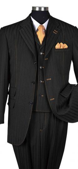 mens 3 siece black suit, 5267v
