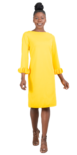 allen kay, 785805, lemon dress