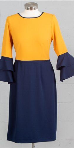 allen kay, 785850, mustard dress