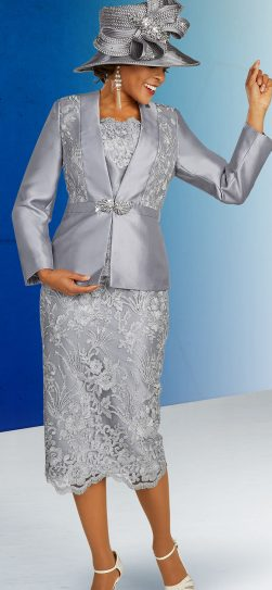 benmarc skirt suit, 48315, platinum skirt suit