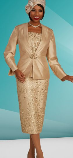 benmarc skirt suit, gold skirt suit 48316