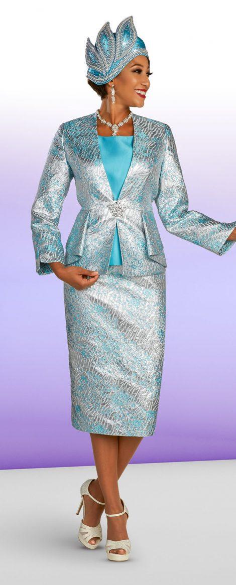 benmarc 48317, blue skirt suit