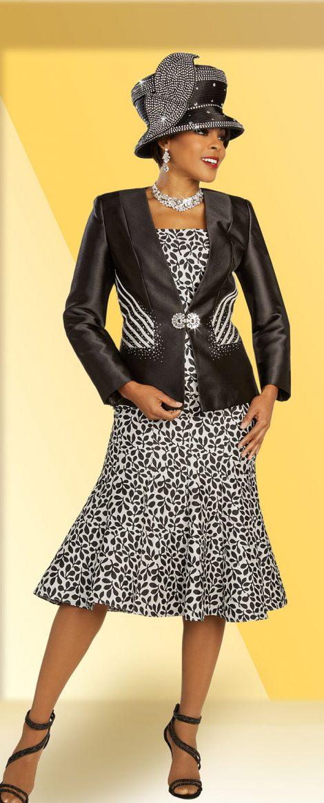 benmarc, 48332, black-white print skirt suit
