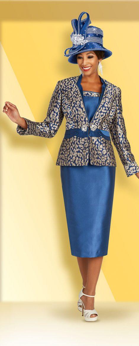 benmarc, 48364, blue skirt suit