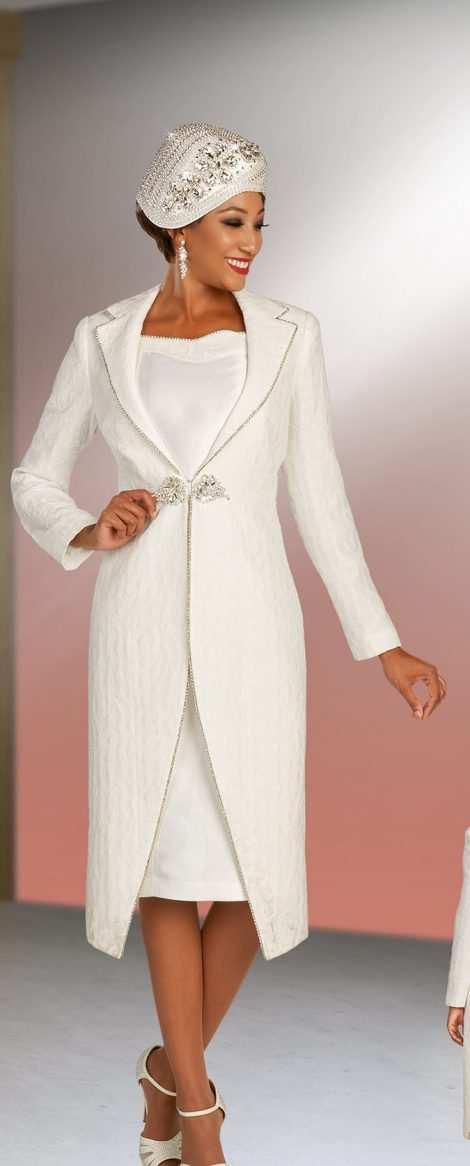 Women's Dress, Women's Dresses, Dress and Jacket, Dress and Hat, Off White