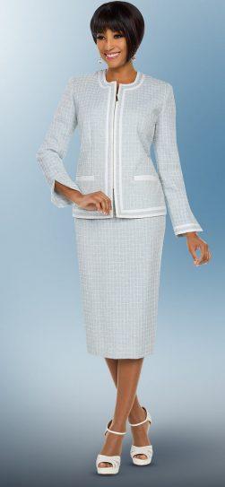 benmarc executive, seafoam skirt suit, 11793