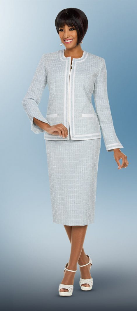 benmarc executive, seafoam skirt suit, 11793