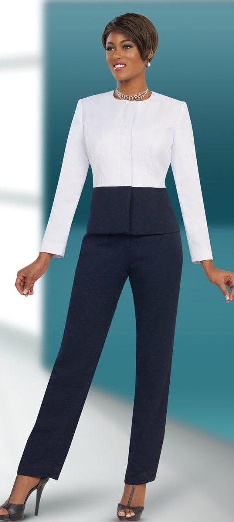 benmarc executive, style 11532, white-midnight, size 8-24