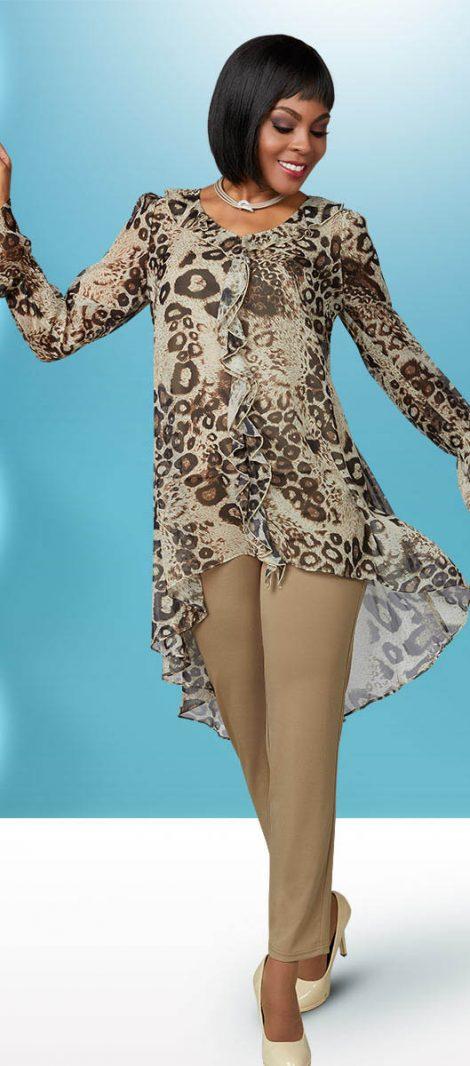 Casual elegance, pant suit, casual pant suit, wedding pant suit, plus size pant suit,18271, khaki, small-3X