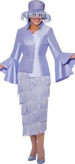 dorinda clark cole, dcc9032, lavender skirt suit