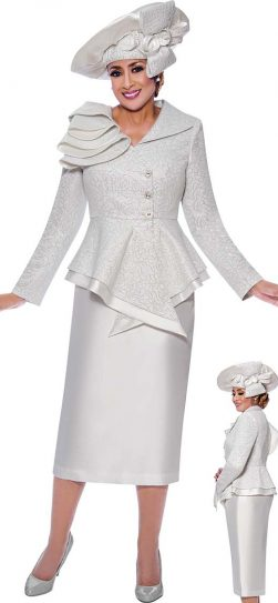 dorinda clark cole, dcc9042, white skirt suit