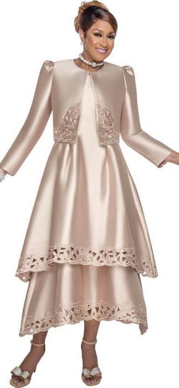 dorinda clark cole, dcc2802, taupe dress