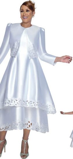 dorinda clark cole, dcc2802, white dress