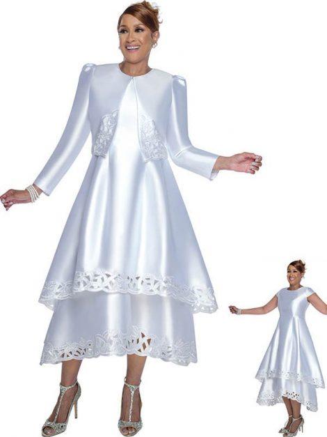 dorinda clark cole, dcc2802, white dress