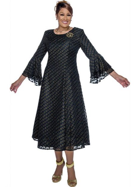 dorinda clark cole, dcc3121, navy dress