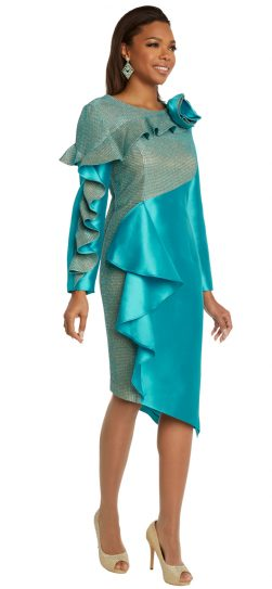 donnavinci, 11848, aqua dressy dress
