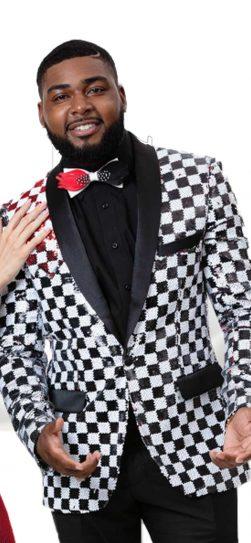 EJ Samuels, Mens Blazer, Checkered, J53