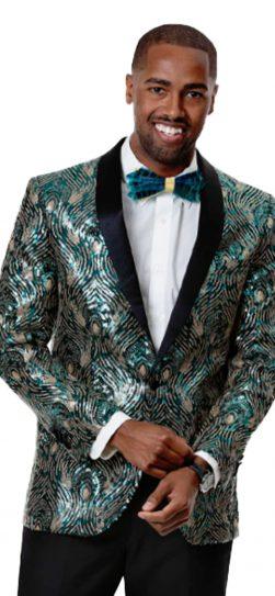 EJ Samuel, Green Blazer, Mens Blazer