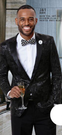 EJ Samuel, Mens Blazer, Abstract Blazer, Black Blazer