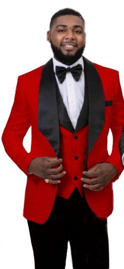 EJ Samuel, Blazer and Vest, Mens Red Blazer