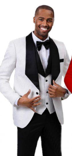 EJ Samuel, Blazer and Vest, Mens White Blazer
