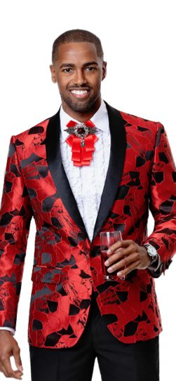 EJ Samuel, Men's Blazer, Red Blazer