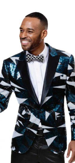 EJ Samuel, Men's Blazer, Aqua Mens Blazer