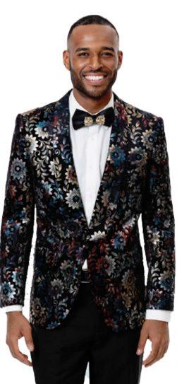 EJ Samuel, Men's Blazer, Floral Blazer