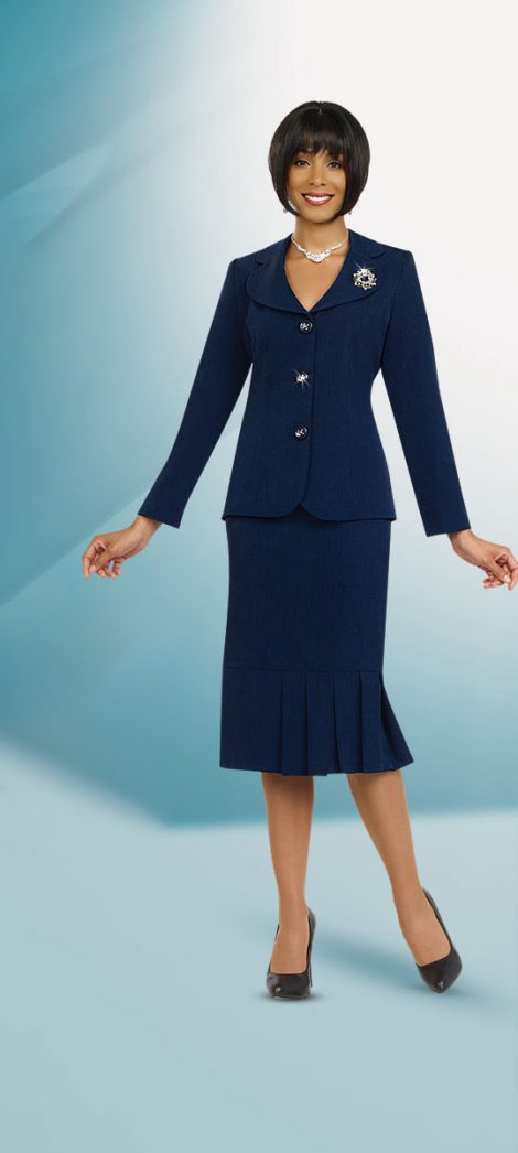 Benmarc skirt suit 78095 Blue