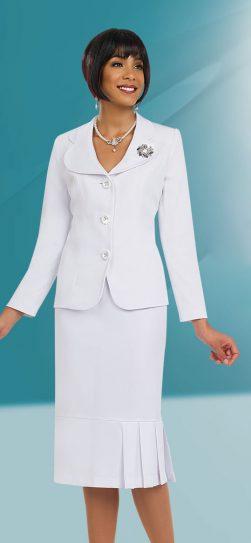 Benmarc skirt suit 78095 White