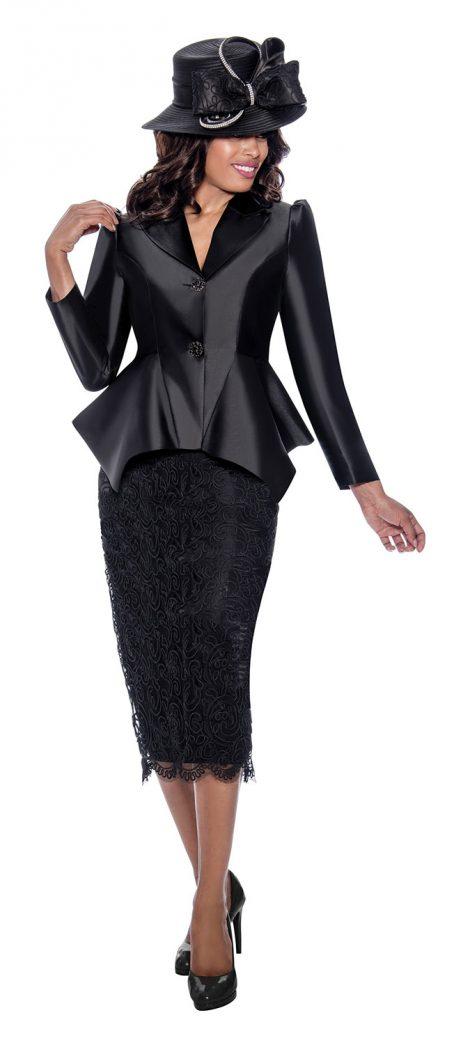 gmi, g8092, black skirt suit