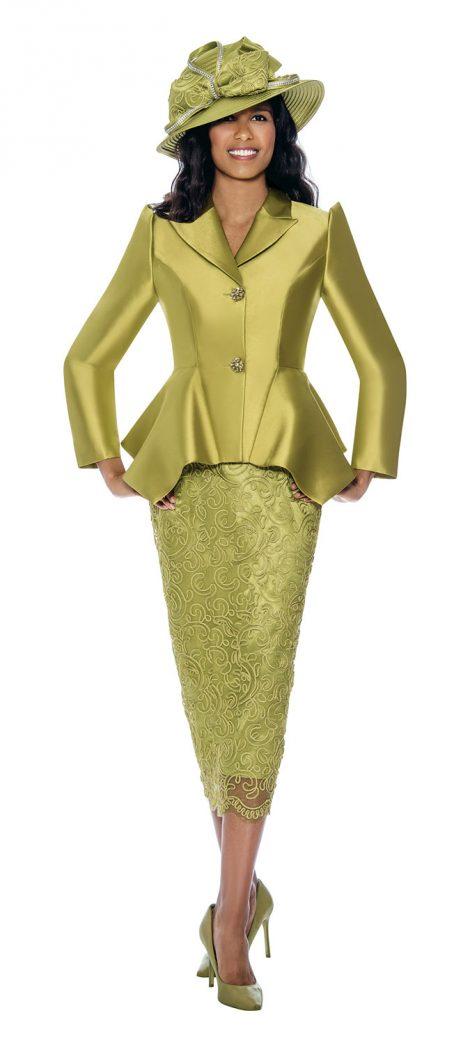 gmi, g8092, green skirt suit