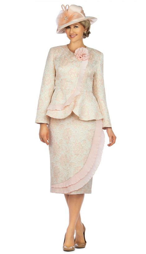 giovanna, 0938, light pink skirt suit