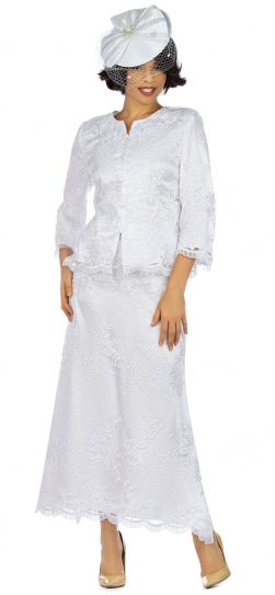 Giovanna, 0947, white dress with long skirt
