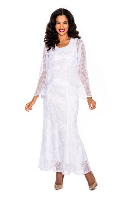 Giovanna, white jacket dress, D1455
