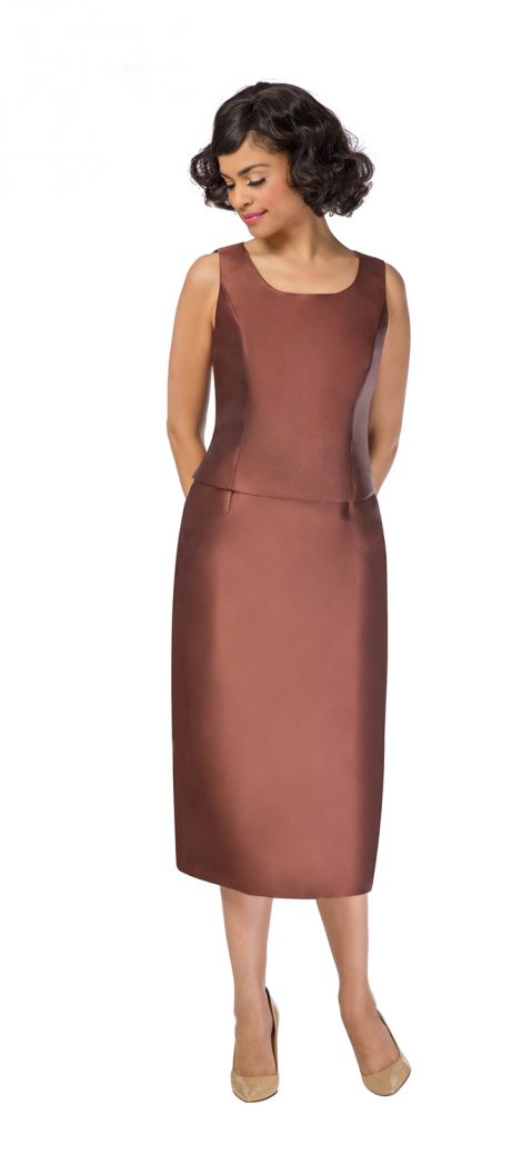 Giovanna, g1085, brown skirt suit