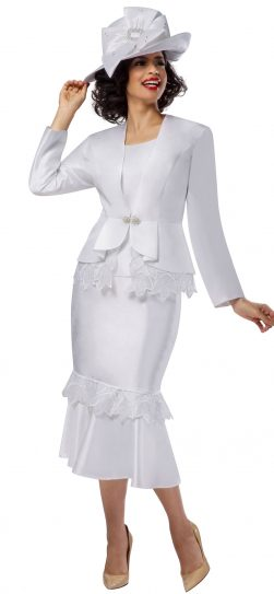 Giovanna, white church suit, dressy white church suit
