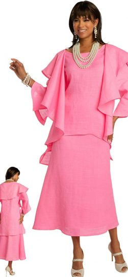 lisa renee, 3362, hot pink linen dress